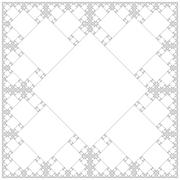 square sacral geometry fractal structure background. - stock illustration