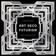 abstract silver art deco style background. - stock illustration