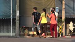 Pedestrian   in bankok traffic   thailand Stock Footage