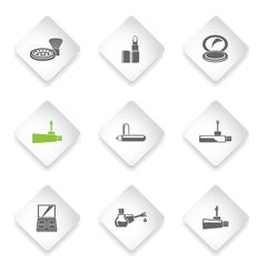 make-up products icons - stock illustration