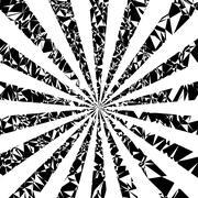 Sun rays vector background - stock illustration