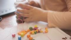 Children In Creative Activities, Hobbies Childhood. 1920X1080 Footage Hd - stock footage