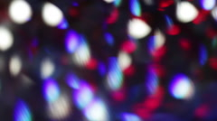 Blur lights shine bokeh smooth abstract motion pattern background Stock Footage