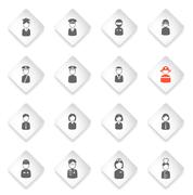 Ocupation simply icons - stock illustration