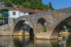 Old bridge of the Cernojevica river - stock photo