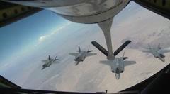 Lockheed Martin F-35 Lightning II Refueling Mission - stock footage