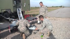 Guardsmen Train on RQ-7B Shadow Tactical Unmanned Aircraft System - stock footage