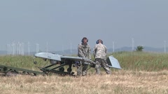 Guardsmen Train on RQ-7B Shadow Tactical Unmanned Aircraft System Stock Footage