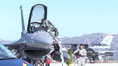 F-16 Fighting falcons in Greece for  Flying Training Deployment Stock Footage