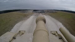 Live-fire exercise with the M1A1 Abrams battle tank Stock Footage