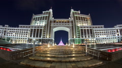 Complex of administrative buildings night timelapse. Astana, Kazakhstan Stock Footage