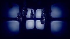 Microphones Old Style Stock Footage