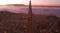 Trans America Building San Francisco sunset Stock Footage