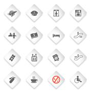 Airport icons set - stock illustration