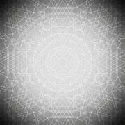 Sacred geometry, triangle design gray background. Abstract vector illustration - stock illustration
