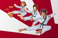 Martial Art Banner Stock Illustration