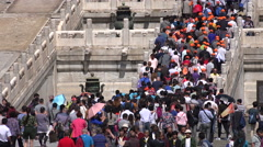 Massive crowds visit Forbidden City Palace, Beijing, China tourism Stock Footage