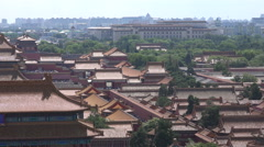 Heatwaves coming off the Forbidden City in Beijing - stock footage