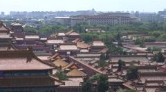 Heatwaves coming off the Forbidden City in Beijing Stock Footage