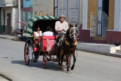 Cuba, Cardenas, Coach - stock photo