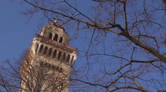Top of the bell-tower Stock Footage