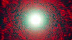 Abstract tunnel in red with light in the end - stock footage