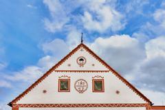 Czech Republic - UNESCO village Holasovice in South Bohemia - stock photo