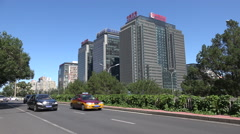 Sinopec headquarter office in Beijing, China oil and gas corporation - stock footage