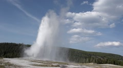 Stock Video Footage of Old faithful geyser in Yellowstone park