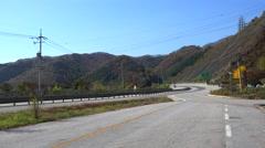 Road traffic at the Yeongdong Expressway N50. South Korea Stock Footage
