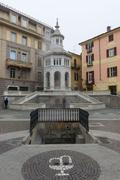 Fountain La Bollente in Acqui Terme Stock Photos