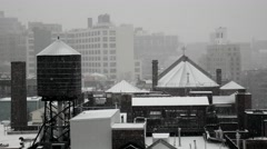 Heavy afternoon snow in New York City Stock Footage