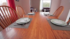 dining room view from camera on gimbal - stock footage