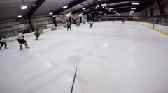 Gopro hockey helmet cam creative hockey attack Stock Footage