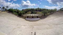 Time lapse of altos de chavon, old amphitheatre, in casa de campo, la romana, - stock footage