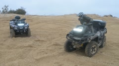 Stock Video Footage of ATV Ride through the steppe, sand and terrain