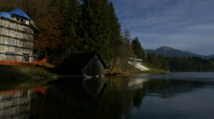 Beautiful view of Lake Bled Stock Footage