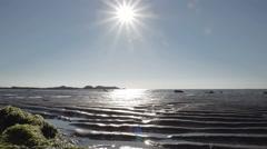 Slow Motion cinematic shots filmed on Rhosneigr Beach Stock Footage