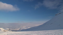 View to the arctic town of Longyearbyen in Spitsbergen, Norway. Stock Footage