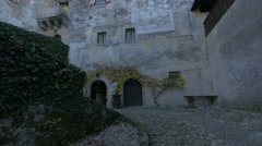 The old walls of Bled Castle Stock Footage