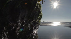 Sun Light Reflecting Off Tidal Pool Stock Footage