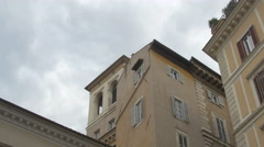 Low angle view of old buildings in Rome - stock footage