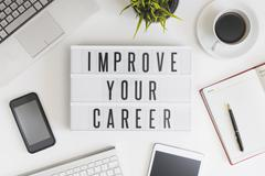 Improve your career concept - stock photo