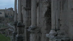 Tilt view of Septimius Severus Arch in Rome Stock Footage