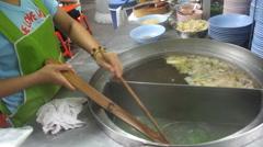 noodle preparing in restaurant - stock footage