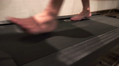 Exercising on treadmill in gym - sport, fitness, lifestyle, technology and pe Stock Footage