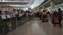 Arrivals hall at Beijing Capital International Airport Stock Footage