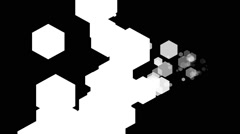 Black & White Abstract Geometric Design Transition Keying Patterns HD Stock Footage