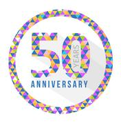 Stock Illustration of 50 year anniversary triangle shape sign pattern