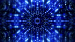 Abstract Blue Kaleidoscope Psychedelic  Background 4K UHD Stock Footage